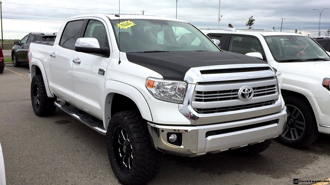 lifted 2016 toyota tundra crew max 1794 edition on 305 55r20 tires youtube. Black Bedroom Furniture Sets. Home Design Ideas