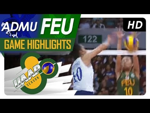 ADMU vs. FEU | Game Highlights | UAAP 80 Women's Volleyball | February 4, 2018