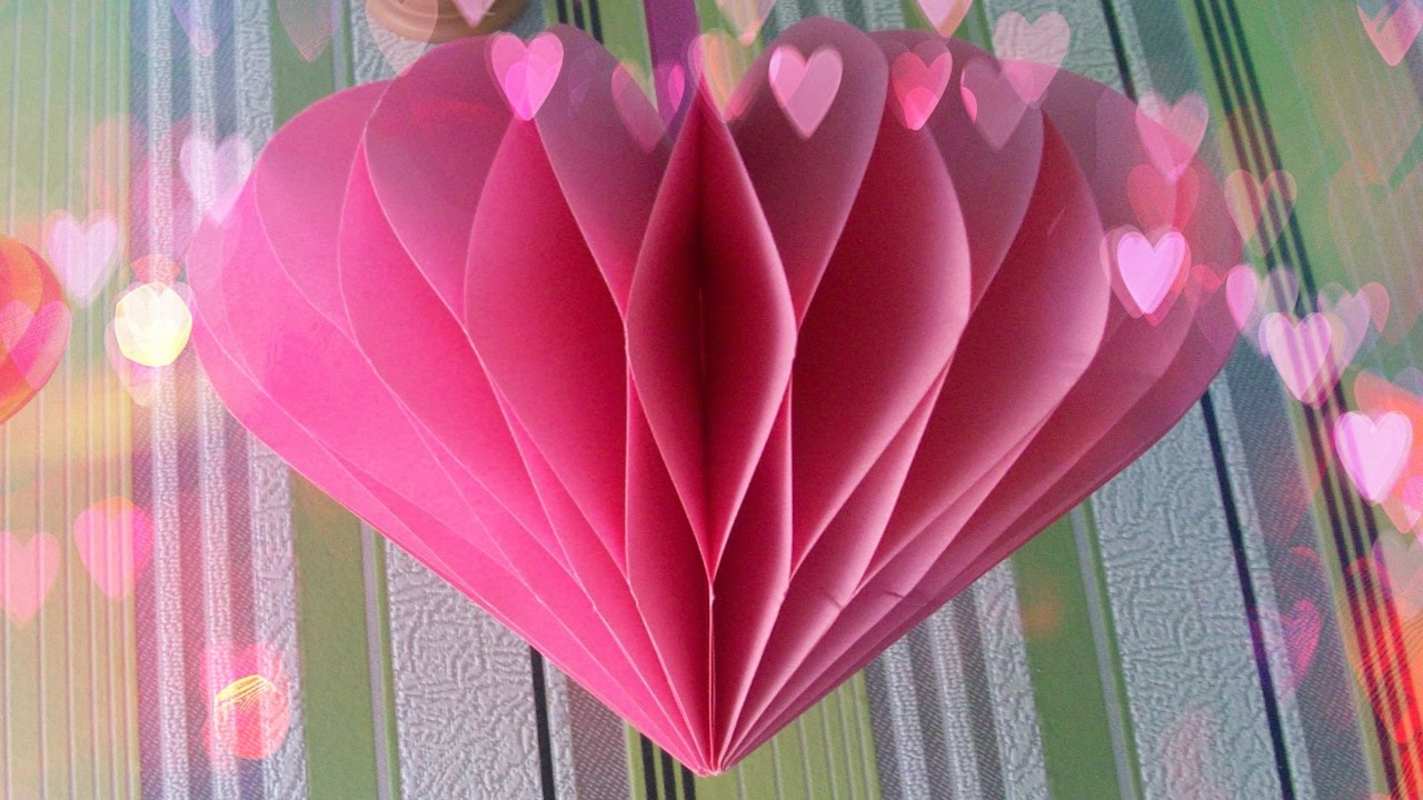 DIY Handmade Gift How To Make Amazing Paper Heart Valentines Day Crafts