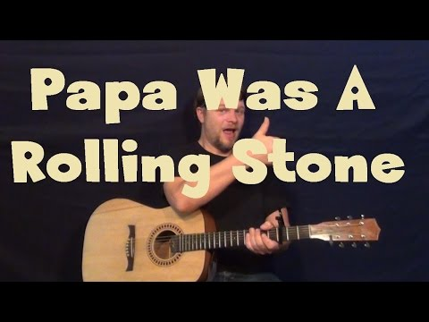 Papa Was A Rollin' Stone (The Temptations) Easy Guitar Lesson How to Play Tutorial