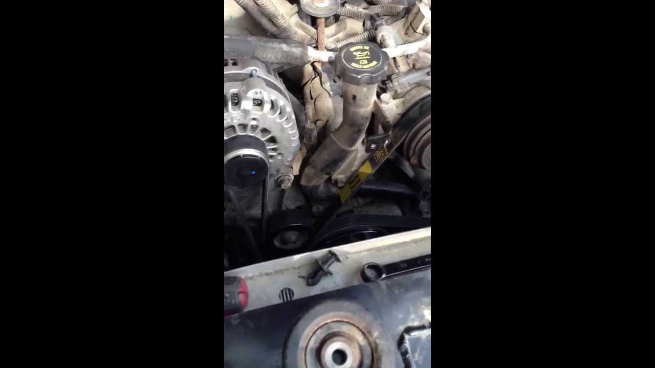 how to serpentine belt replacement and fan removal gmc chev 6 6l duramax lbz youtube [ 1280 x 720 Pixel ]