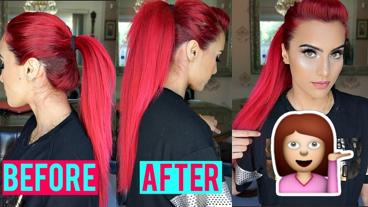 Hair Hack Longer Voluminous Ponytail Without Extensions