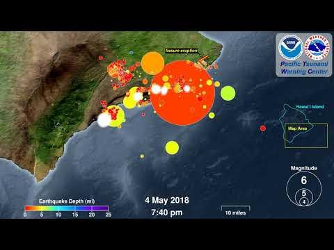 Earthquake Animation: Kilauea 2018