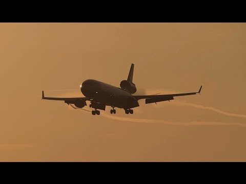 Lufthansa Cargo & UPS(United Parcel Service) Sunset Arrivals at Viracopos Int