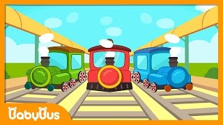 ❤ Down by the station | Nursery Rhymes | Kids Songs | BabyBus