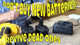 Gambar cover How to revive a dead rechargeable power tool battery easily