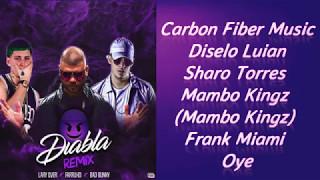 Diabla Remix Letra - Farruko ft Bad Bunny , Lary Over
