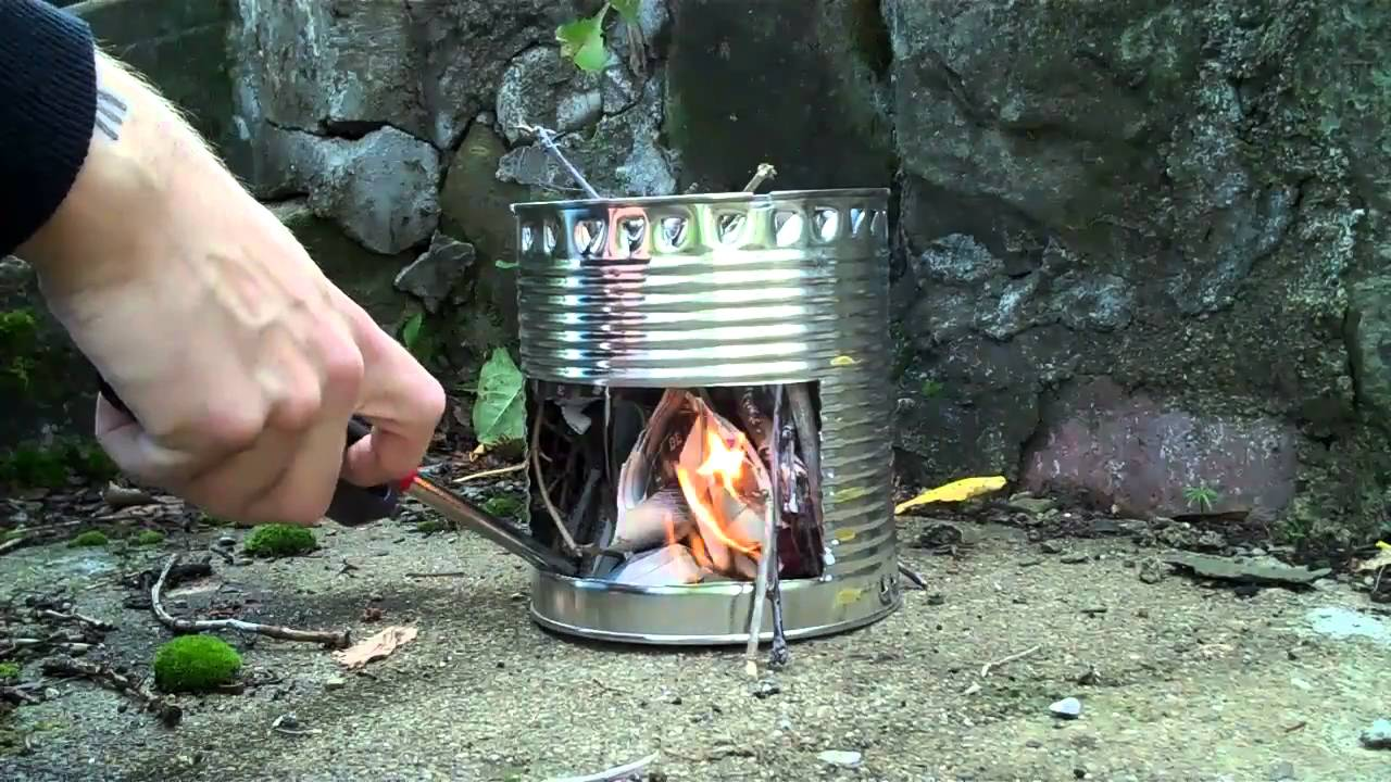 How to make a hobo stove hd youtube for How to make a stove