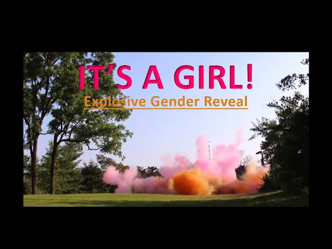 Baby Black Gender Reveal Party 10lbs Tannerite + 15lbs Corn Starch Powder