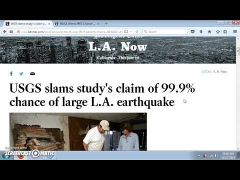 USGS SLAMS NASA CLAIM OF 99% CHANCE OF 5.0+ QUAKE IN LOS ANGELES