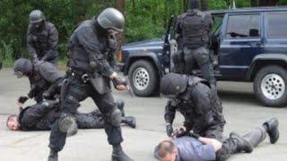 Жесткий захват бандитов полицией #СОБР работает, задержание
