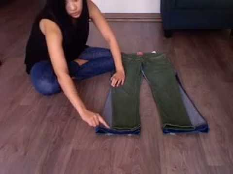 Turn bootcut into skinny jeans without sewing
