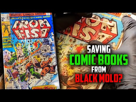Can This KEY COMIC BOOK be Saved? // Removing Black Mold from Sabertooth's First Appearance // $$$