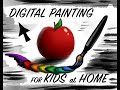 Digital Painting Lesson For Kids At Home! (Using Kleki)