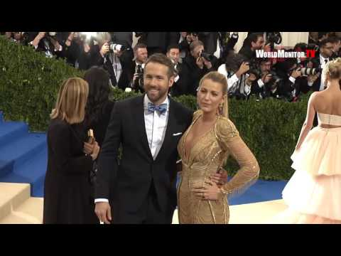 Blake Lively, Ryan Reynolds arrive at 2017 Met Gala