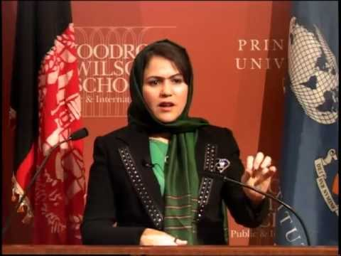 """Political Transition, the Role of Women, and Prospects for Peace in Afghanistan"" with Fawzia Koofi"