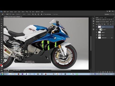 Photoshop สอนแต่งรูปออกแบบลายรถบิ๊กไบค์