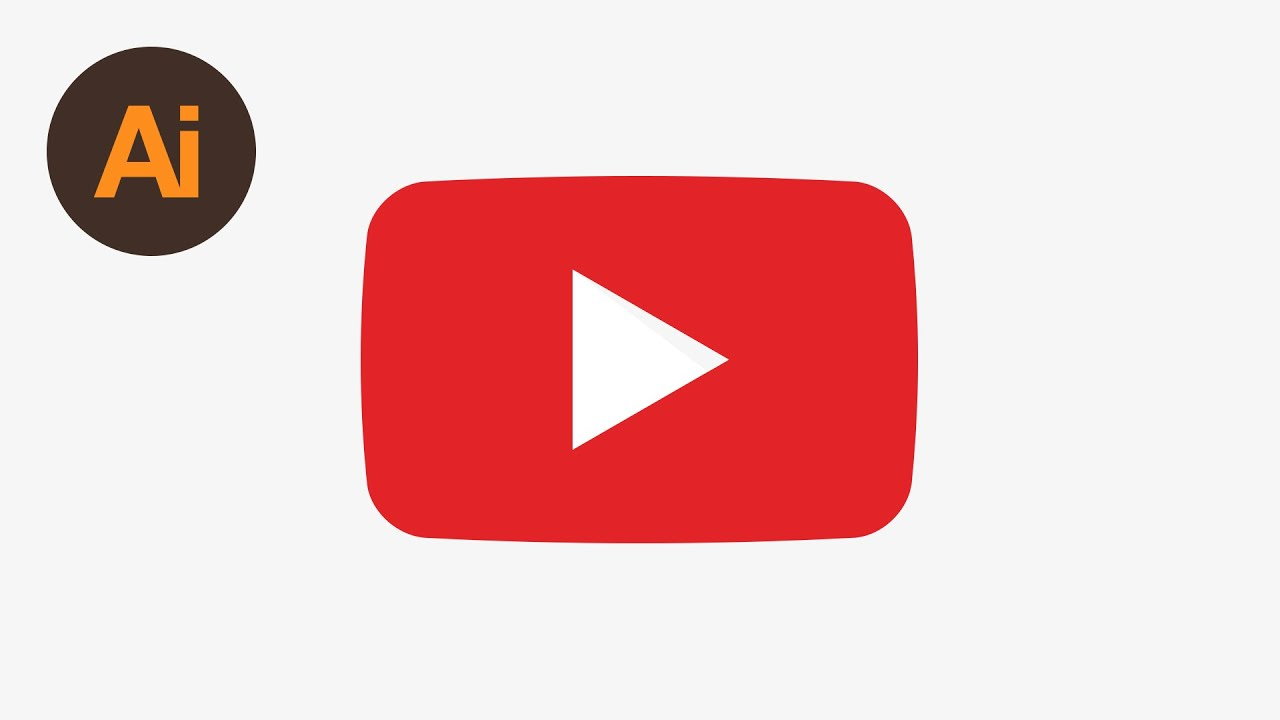 Dansky Learn How To Draw The Youtube Play Symbol In Adobe Illustrator