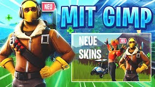 100 % GRATIS FORTNITE THUMBNAIL ERSTELLEN MIT GIMP - + TEMPLATE 🎬🎯- Tutorial Deutsch I zPhxix