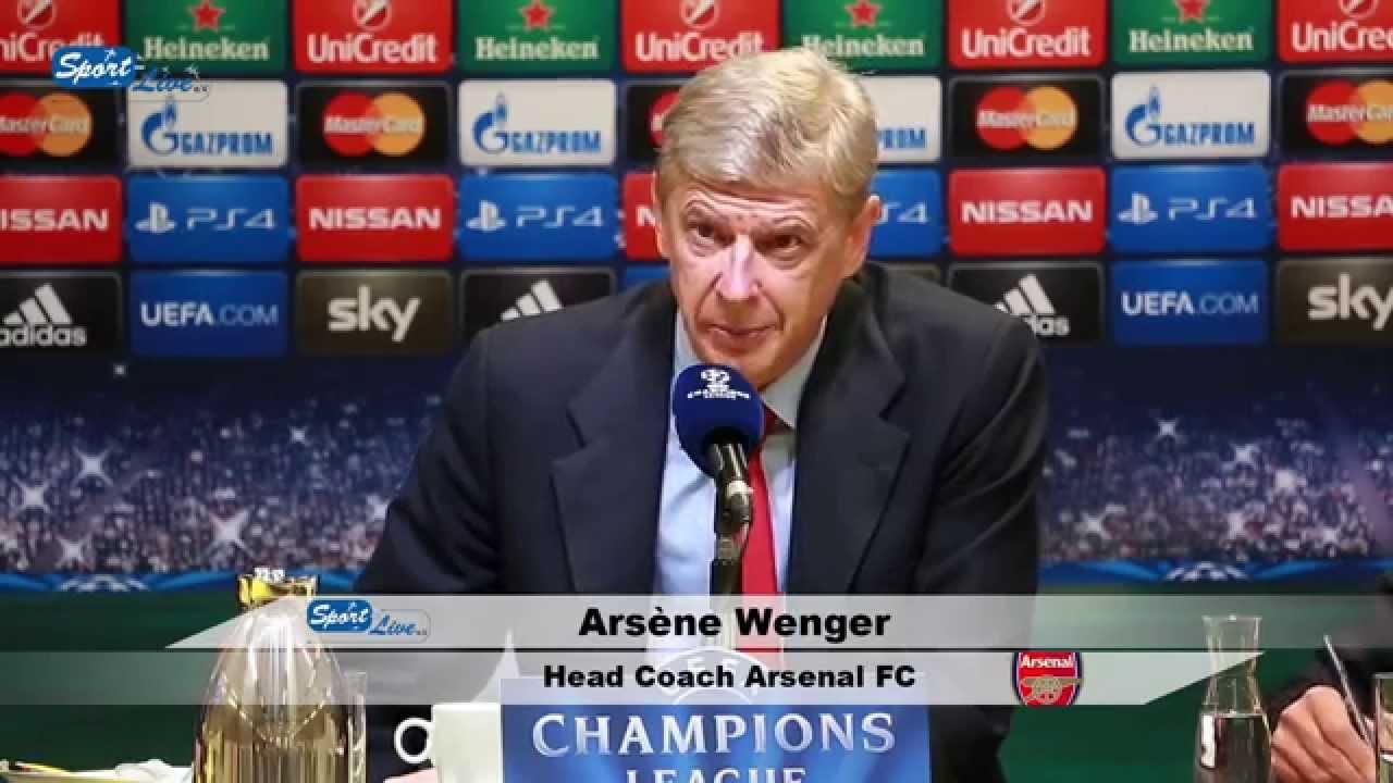 UEFA Championsleague : Borussia Dortmund against Arsenal FC : press conference Arsene Wenger