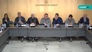 Ajuntament de Calafell: sessió plenària ordinària, 4 de desembre de 2017