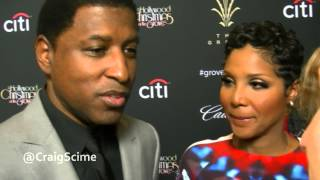 Exclusive Interview with Toni Braxton and Babyface at the Christmas Tree Lighting at The Grove