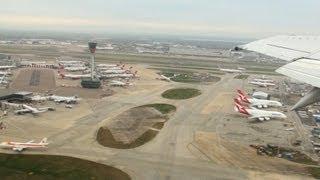 Heathrow Boeing 737-400 LOT Polish Airlines RWY 27R takeoff 【HD】