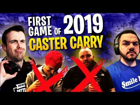 Fortnite - First Game of 2019 The Caster Carry! - Dark Mode ft. Ninja, Tim, & Courage   DrLupo