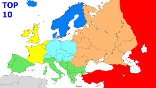 Top 10 Biggest Countries in Europe Continental