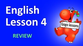 English Lesson 4 - REVIEW | Hello. What's your name? School vocabulary. ABC.