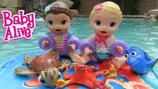 BABY ALIVE Finding Dory Toy HAUL + Baby Alive Goes Swimming! thumbnail