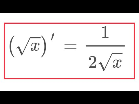 Derivative of square root of x in many languages - YouTube