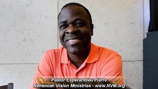Interview with Pastor Esperandieu Pierre from Haiti