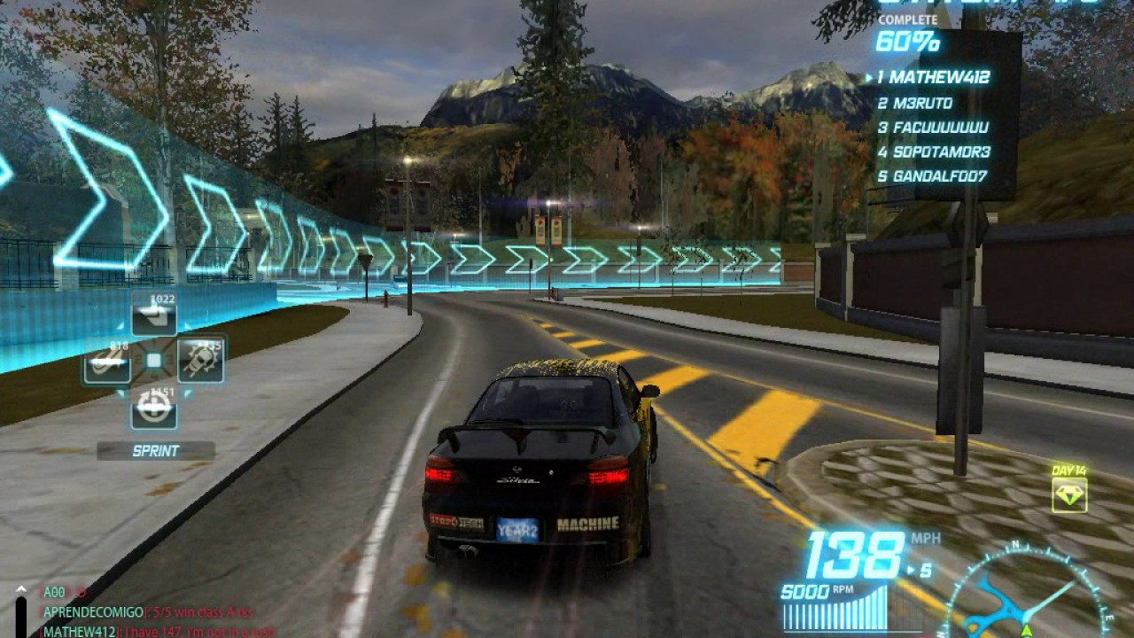 Nfs world nissan silvia c class almost wins against a s class cars old footage