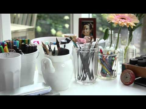 Sabine Wisman's home and studio!