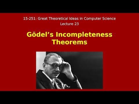 Great Ideas in Theoretical Computer Science: Gödel