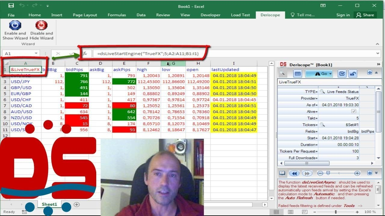 Real Time Forex Rates In Excel From Truefx