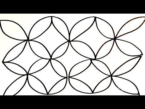 Menggambar Mewarnai Motif Batik Untuk Anak Youtube