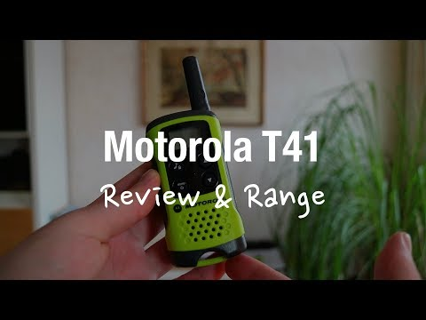 Motorola TLKR T41 2 Way Radio (Review and Range Test)