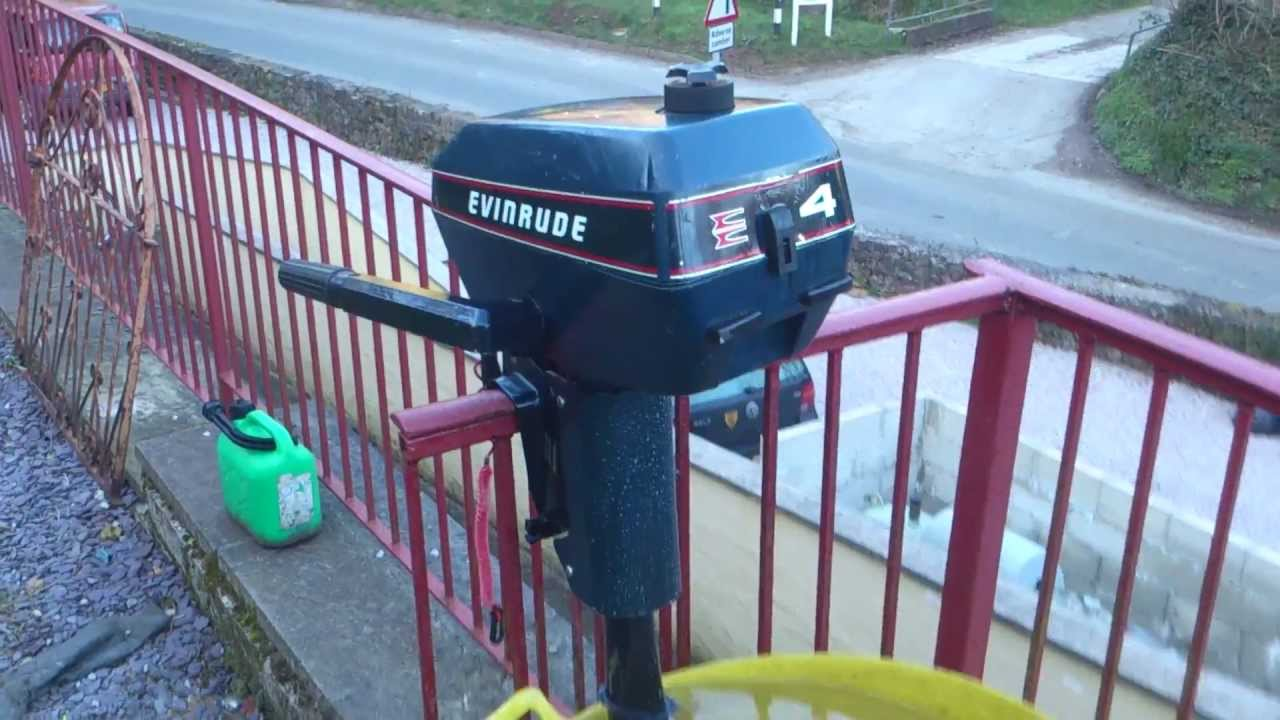Evinrude 4HP Outboard Boat Engine