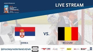 Live Stream WC Ice Hockey Division II Group A: Serbia vs. Belgium April 23rd
