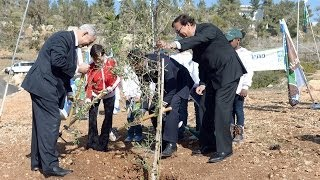 Repeat youtube video PM Netanyahu Attends Tree-Planting Ceremony