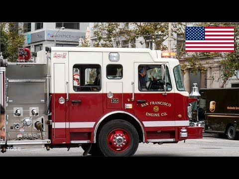 [San Francisco] Fire Engine Responding + Emergency Clips | SFFD & SFPD