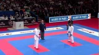 Yavuz Karamollaoglu vs Diego Mez Davy. Bronze Male Kumite -84kg. World Karate Championships 2012