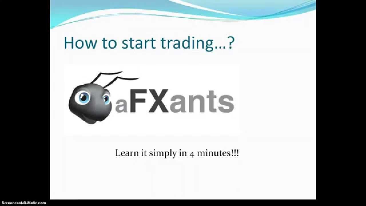 Learn how to start Forex trading for FREE !!! - www.afxants.com - YouTube