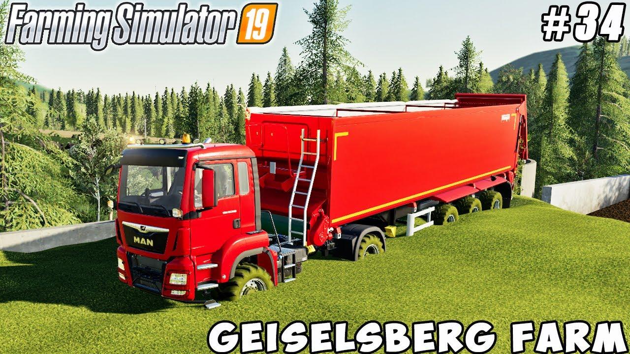 Harvesting corn silage and grains   Geiselsberg Farm   Farming simulator 19   Timelapse #34