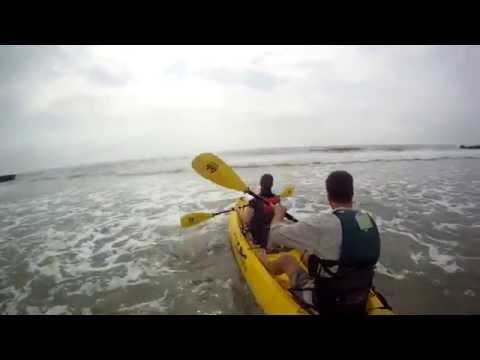 Tandem Kayak in the Surf