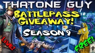 FORTNITE | SEASON 9 BATTLE PASS GIVEAWAY | CUSTOM MATCHMAKING | GIFT CARDS | #fortnite