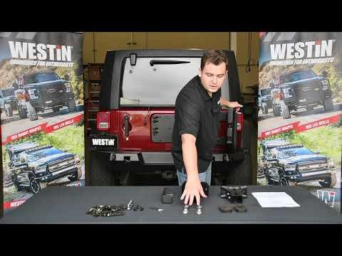 WESTIN WJ2 Rear Bumper W/ Tire Carrier Installation Video