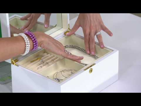 Personalized White Lacquer Jewelry Box on QVC